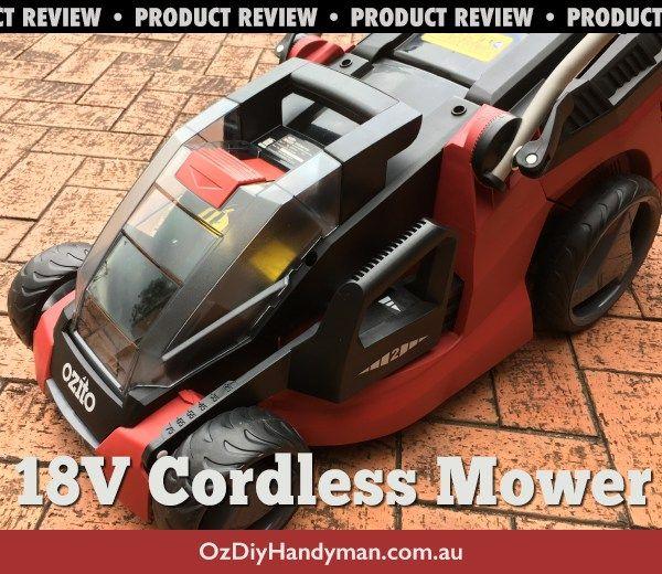 ozito cordless lawn mower