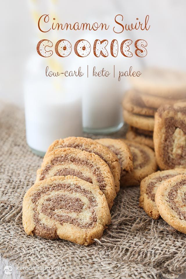 Keto Cinnamon Swirl Cookies Recipe plus 49 other Paleo cookie recipes
