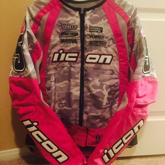 Icon Jacket Pink Icon women's Large Jacket. Brand new. Please no lowballs. Jacket was bought for me. Never used it. ICON Jackets & Coats Utility Jackets