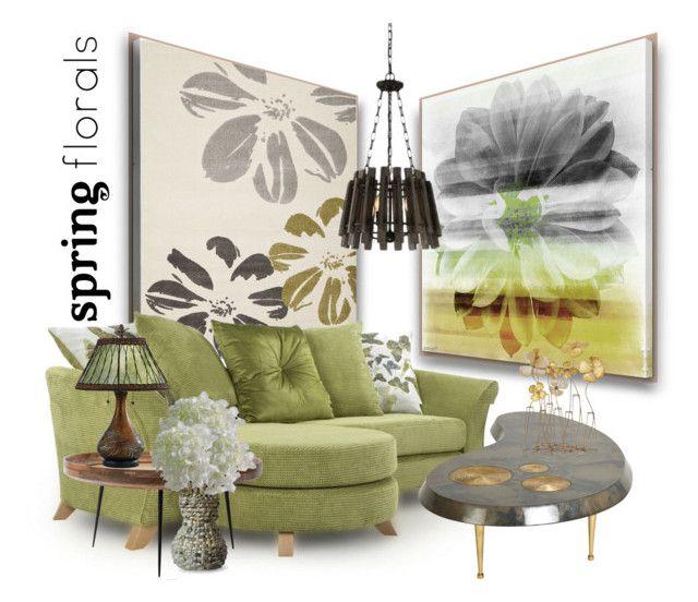 """Spring Blooms"" by betiboop8 ❤ liked on Polyvore featuring interior, interiors, interior design, home, home decor, interior decorating, Parvez Taj, Safavieh, Uma and mater"