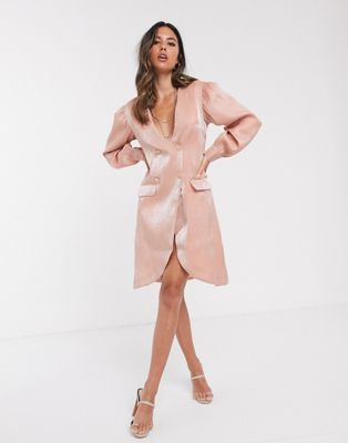 unique21 tailored shimmer blazer dress asos blazer dress