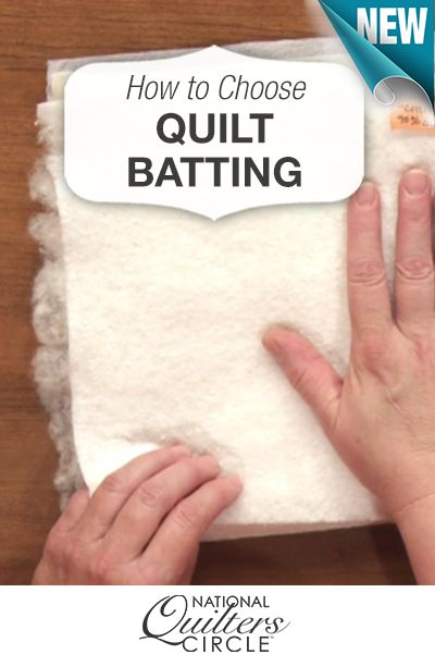 Tips for how to choose the right batting for your quilts http://www.nationalquilterscircle.com/video/how-to-choose-the-right-quilt-batting/?utm_source=pinterest&utm_medium=organic&utm_campaign=A219 #LetsQuilt