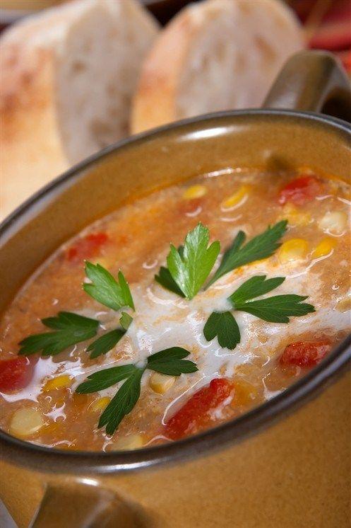 Африканский кокосовый суп с нутом и карри