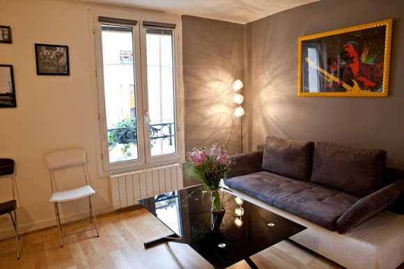 One Bedroom Serviced apartment with soft decor & parquet flooring in Montmartre, Paris