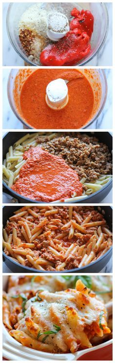 Red Pepper Pasta Bake - A quick and easy cheesy pasta bake that the whole family will love!