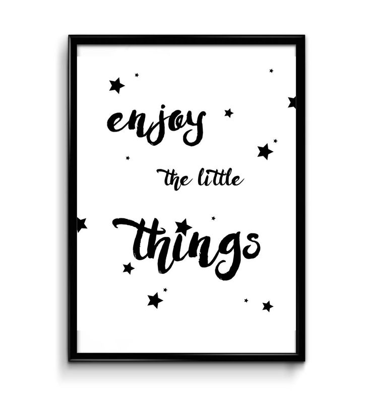 Digital Wall Art Enjoy The Little Things, Inspirational Quote, Printable Art, Digital Poster, Printable Poster, Digital Art Decor by InvitationsPrintByV on Etsy