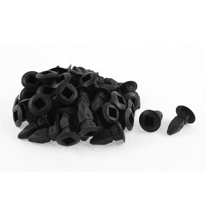 Unique Bargains 50 Pcs Black Plastic Splash Guard Defender Interior Mat Clip for VW Passat B5