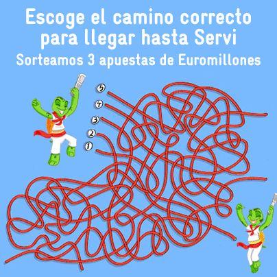 ¡¡¡PROMO SAN FERMINES!!! http://on.fb.me/1r2Qqcz  Tendréis que decirnos cuál es el camino correcto que debe escoger Apuestas para alcanzar a nuestra corredora Servi. Los acertantes entrarán en el sorteo de 3 apuestas de #Euromillones.  ¡Mucha suerte a tod@s!