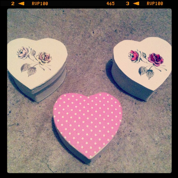 Homemade découpage trinkets. With annie sloan paint and wallpaper off cuts