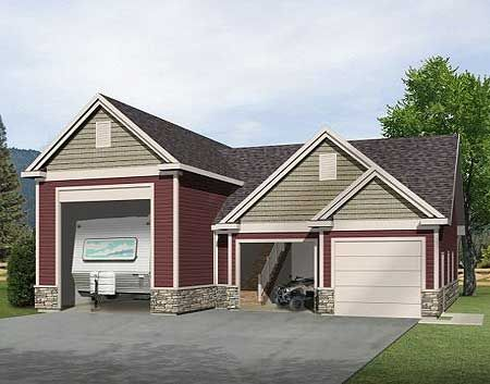 RV Garage with Loft - 2237SL   CAD Available, PDF   Architectural Designs