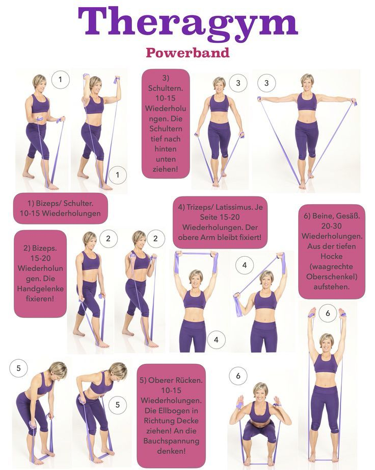 Ein 10 Minuten Theragym Workout für eine knackige Figur!