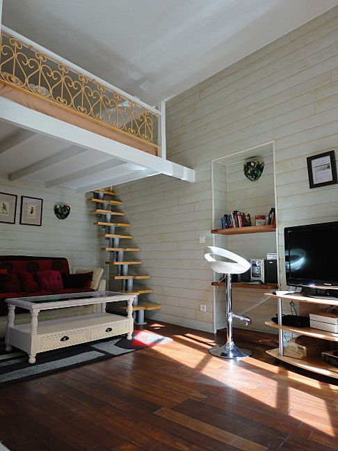 http://www.parisbestlodge.com/vosges.html repurpose closet, simple banister and loft construction/design