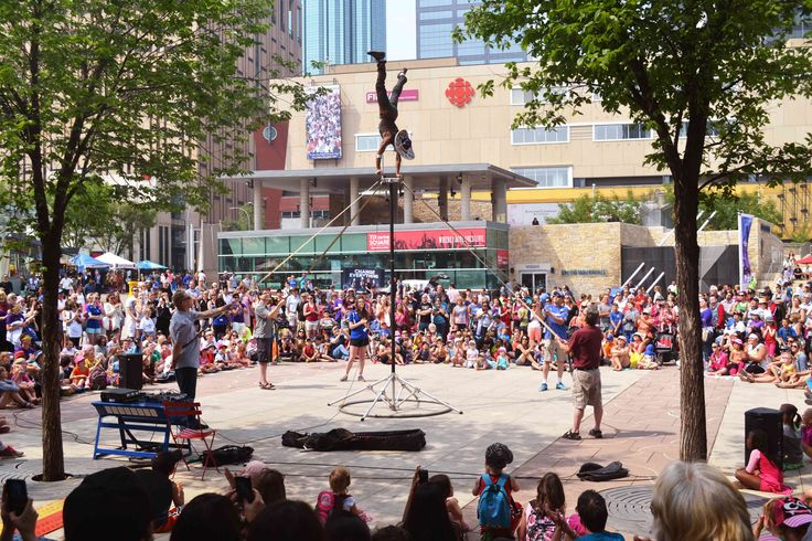 Fun times at the 2014 Edmonton International Street Performers Festival! The Festival takes place in Churchill Square in downtown Edmonton every July.