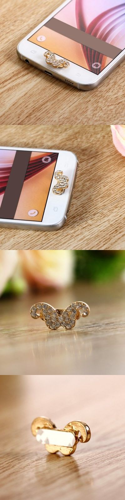 iPhone Charms   Beard Design Mobile Phone Button Sticker Key Cover Ornament for Samsung Note 5 S6 Edge Plus Note 4 3 S5 S4 etc.