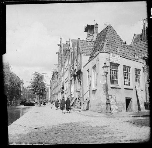 Amsterdam, Lijnbaansgracht gezien vanaf de Lindengracht naar de Willemsstraat 1930