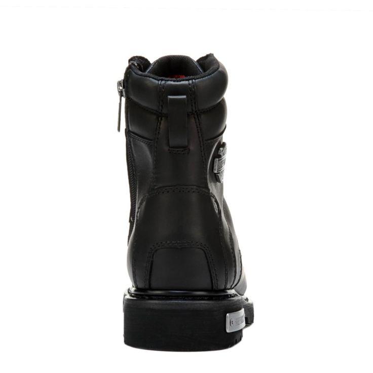 Harley Davidson Men's Abercorn Medium/Wide Composite Toe Lace Up Boots (Black Leather)