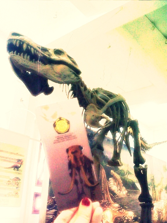 Geologi Museum, Bandung --we're under the dino!!
