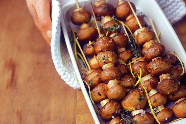 Champignonspiesen ( lekker bij de barbecue)