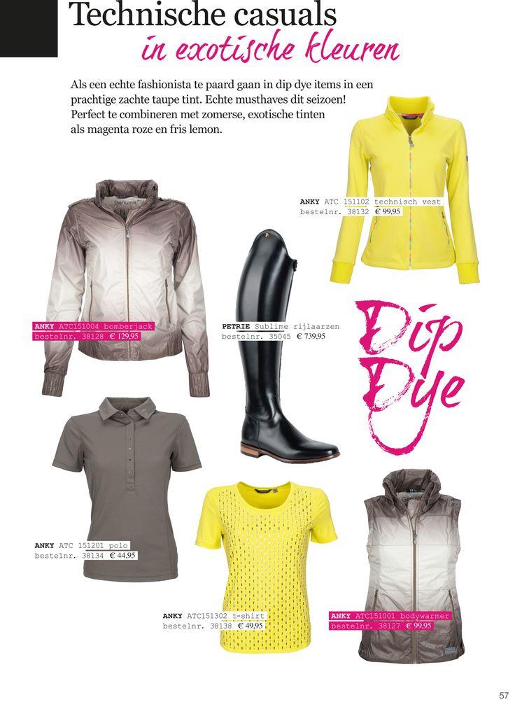 Technische #casuals in #exotische #kleuren. Als een echte #fashionista te #paard gaan in #dip #dye #items in een prachtige zachte #taupe tint. Echte #musthaves dit #seizoen! Perfect te combineren met zomerse, exotische tinten als #magenta #roze en #fris #lemon. Merk #Anky #ATC te koop bij divoza.com #horseworld #horseriding #horse #divoza