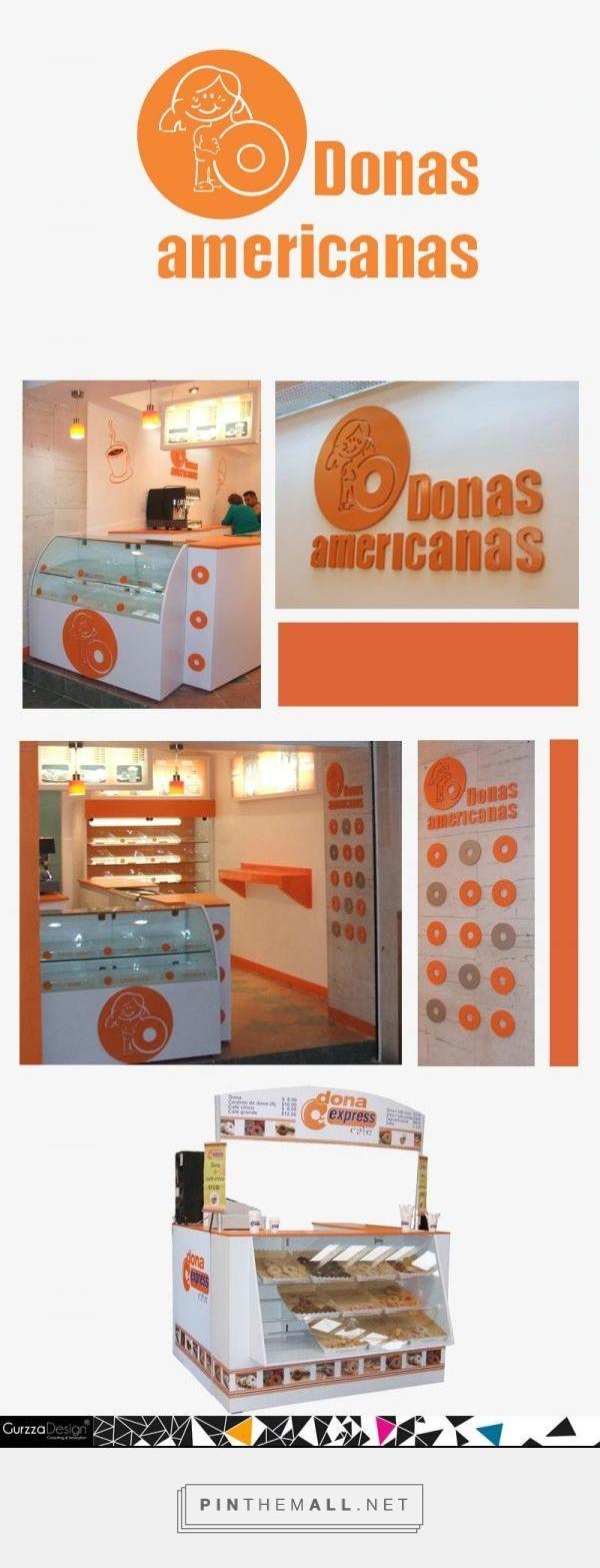 Con Donas Americanas se trabajó desde la creación de concepto de tienda, diseñando, menús, mobiliario y llegando a la producción de los mismos, así como acondicionamiento del lugar. También participamos en el diseño y producción de Islas para centros Comerciales. - created via http://pinthemall.net
