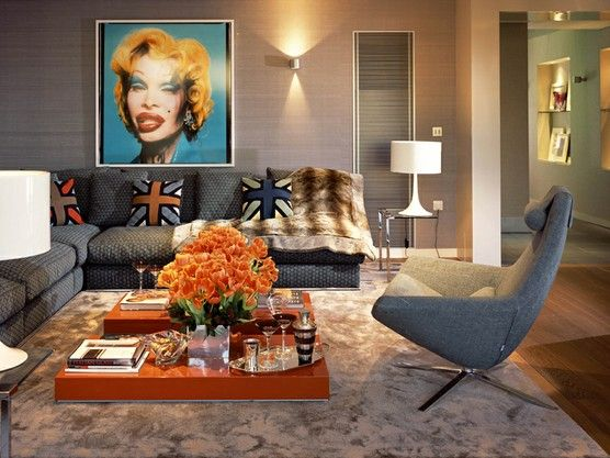 Pop Art Living Room See Other Eclectic Rooms Designs At