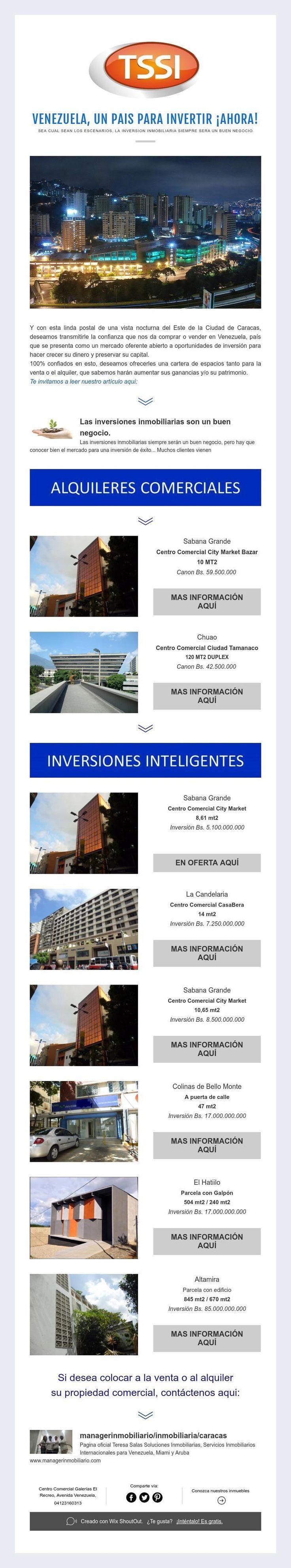 VENEZUELA, UN PAIS PARA INVERTIR ¡AHORA!  SEA CUAL SEAN LOS ESCENARIOS, LA INVERSION INMOBILIARIA SIEMPRE SERAUN BUEN NEGOCIO