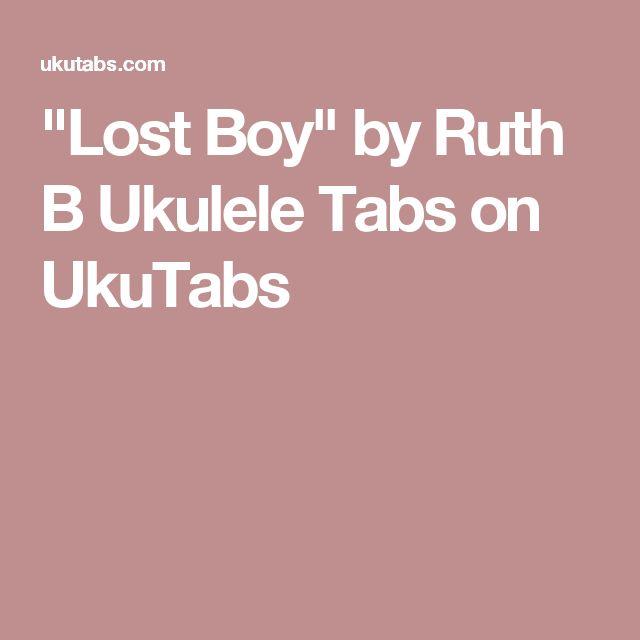 Ukulele Chords Lost Boy