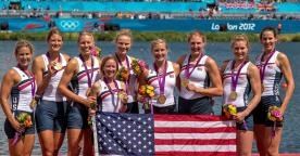 The U.S. women's eight, which includes former Radcliffe rowers Caryn Davies '05 and Esther Lofgren '08-09, was named the 2012 Olympic Team of the Year by the United States Olympic Committee.