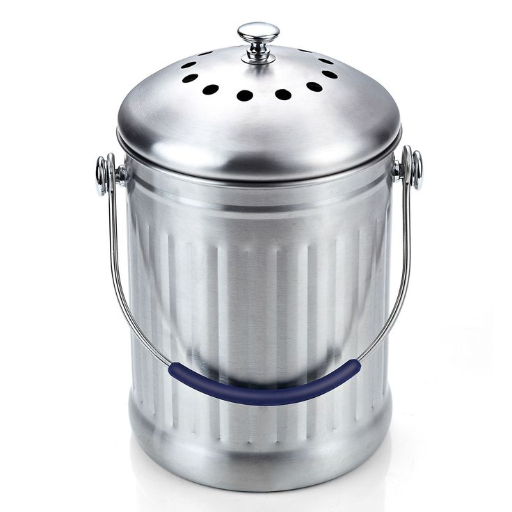 the cook n home stainless steel kitchen compost bin offers a generous 1gallon capacity
