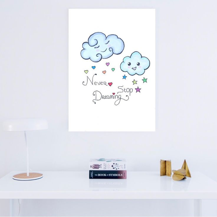 Rainbow and rain cloud print. Your nursery Will be so cute with one of these, or both prints. For more cute rainbow and rain cloud items, like mugs and totes, visit lumisadesign!