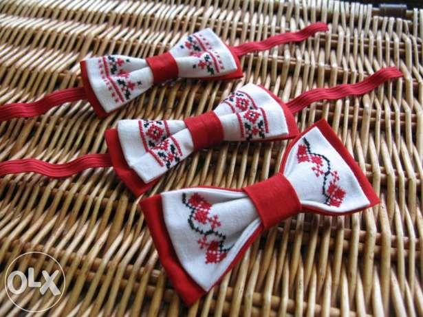 Галстук-бабочка с ручной вышивкой Сумы - изображение 2