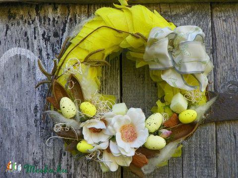 Kikelet- tavaszi,húsvéti ajtódísz.koszorú,kopogtató (galamb70) - Meska.hu
