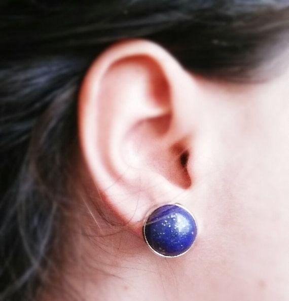 Lapis Lazuli Earrings Blue earrings Stud earrings by CatiShop