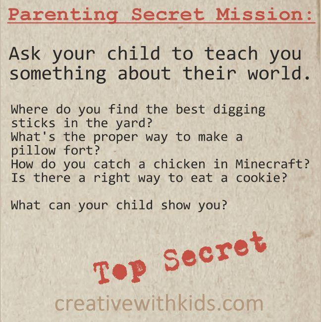 Parenting Secret Mission – Your Child's World