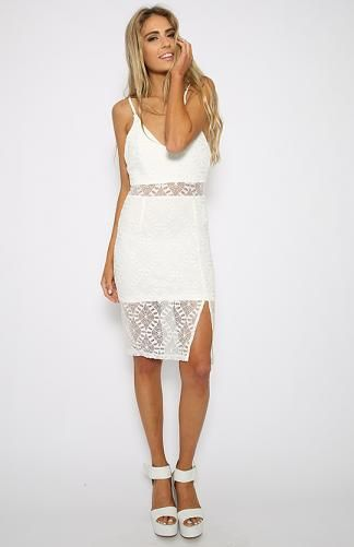 Think Twice Dress - White