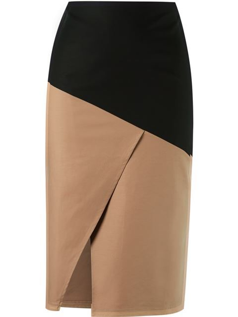 Andrea Marques panelled skirt