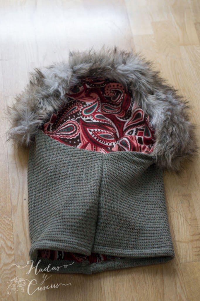 El Diy cuello con capucha, es uno de los mas prácticos y molones! si llueve tienes capucha, y a la vez es un cuello bufanda. guapa, a la moda y diy!