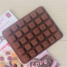 Kreatív DIY 26 betű 4 terek szilikon csokoládé penész jégkocka formák CDSM-224 (kínai (szárazföldi))
