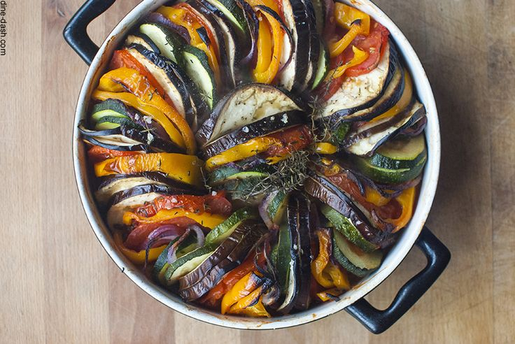 Ratatouille-Easily done in a smaller or medium dutch oven.