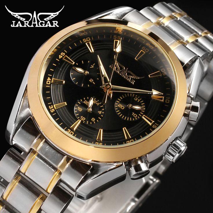Jaragar Watches Men Automatic watch Mechanical Watch Stainless Steel Men's Wristwatches luxury brand -in Mechanical Watches from Watches on Aliexpress.com   Alibaba Group