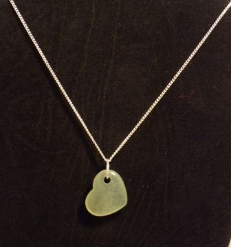 Jade Heart necklace. Genuine gemstone