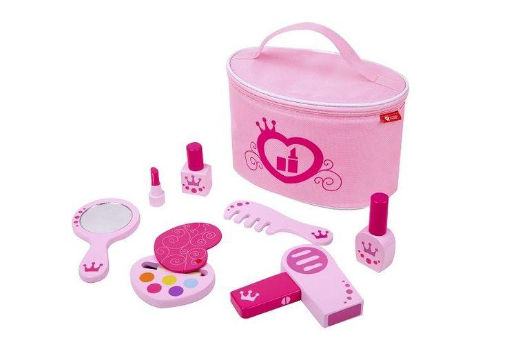 Zestaw piękności - przybory kosmetyczne. zabawki drewniane dla małej księżniczki na www.kidsabc.pl