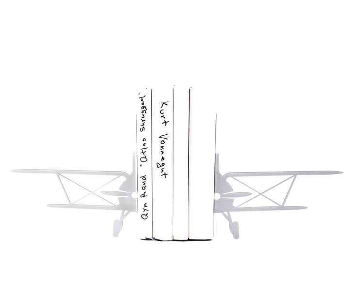 Biplane Bookends Retro Airplane Metal // Man cave Bookshelf Decor // aviation theme // Kids room decor // Free Shipping Worldwide // For teens. Gift for husband