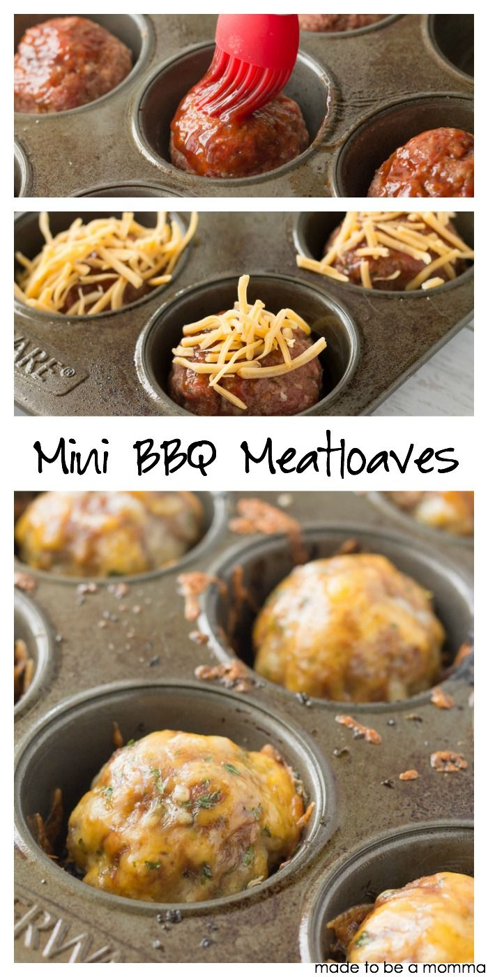 You'll have these mini bbq meatloaves to the dinner table in no time! Recipe at madetobeamomma.com