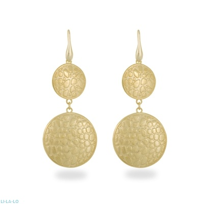 Li - LA -LO earrings in gold plated sterling silver