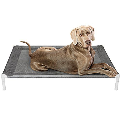 Cheap Elevated Cooling Dog Bed Knitted Fabric Pet Cot Portable