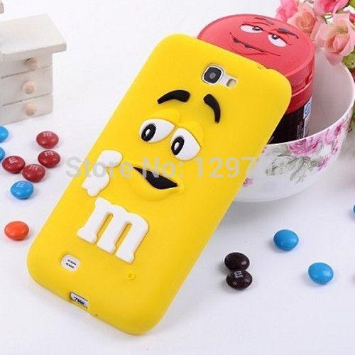 M и M , шоколадные конфеты резиновые силиконовые мультфильм сотовый телефон чехол чехлы для галактики Samsung i9300 примечание 2 примечание 3 чехол 10 шт./лот