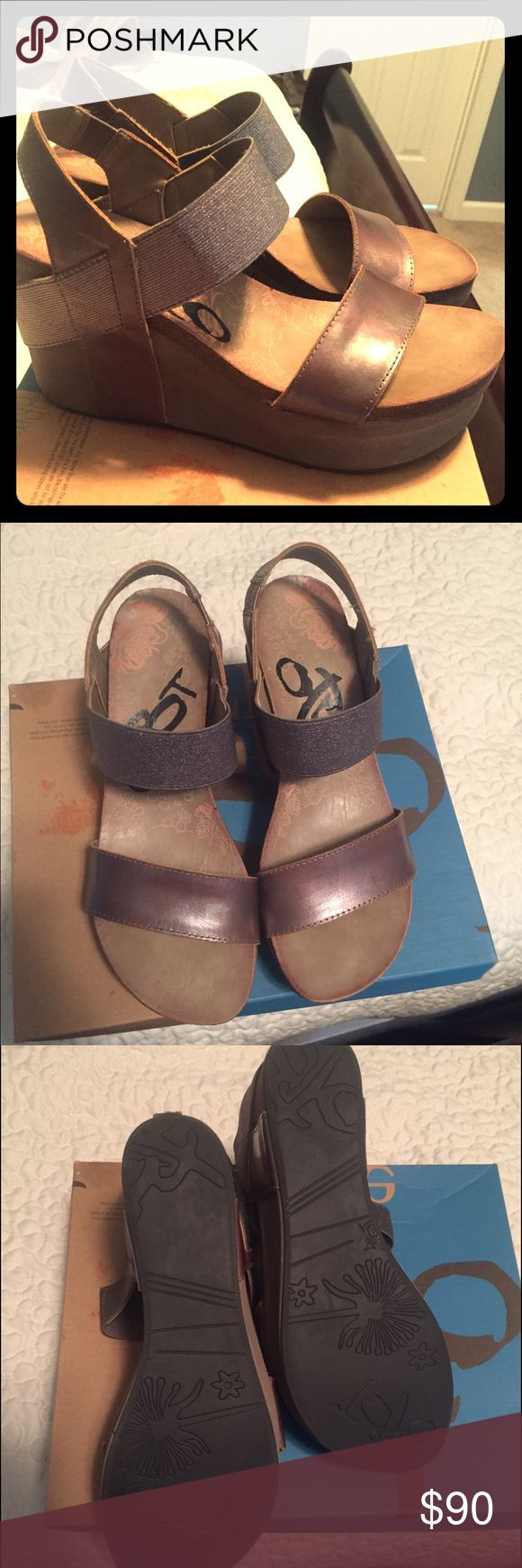Brand new OTBT wedges/ sale or possible trade Bushnell pewter in color / would accept possible trade / if interested let me know what cha got . No need to keep these any longer if I'm not gonna wear them .. had them for like 2 years and still brand new lol .. or trade for new or like new condition chacos . 8 to 8.5 otbt Shoes Wedges