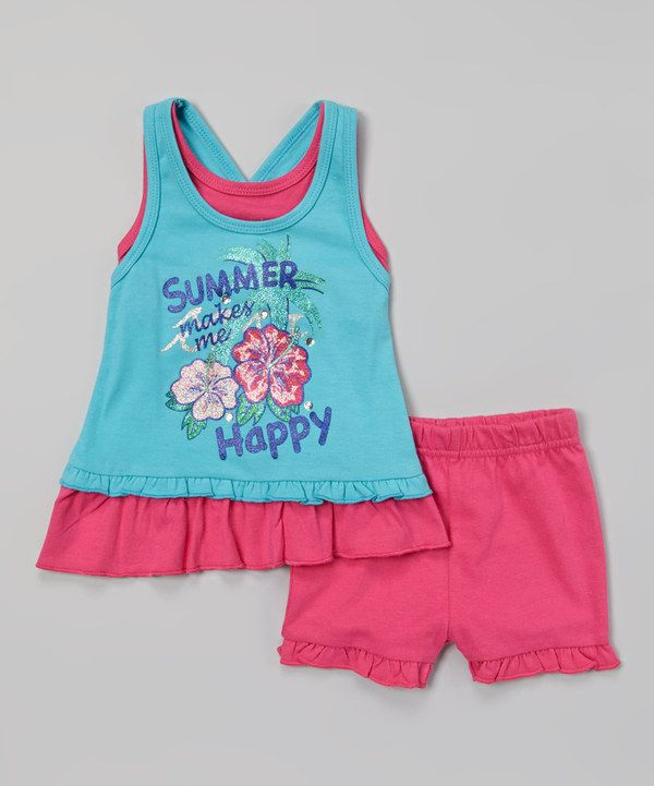 Another great find on #zulily! Weeplay Kids Capri 'Summer' Layered Tank & Shorts - Infant & Toddler by Weeplay Kids #zulilyfinds