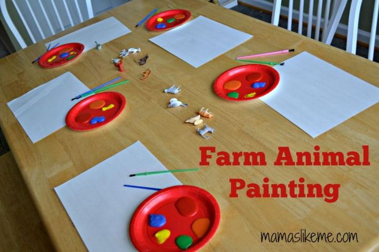 farm animal craft ideas for preschoolers animals animal paintings and preschool on 7713
